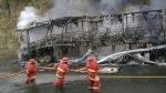 Grupo 5 se salvó de morir por incendio de bus en Olmos [FOTOS] - Noticias de chiclayo