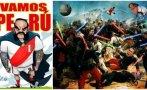 Selección peruana y el apoyo de hinchas con originales afiches