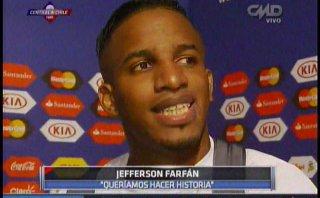 """Jefferson Farfán tras derrota: """"Me siento orgulloso de todos"""""""