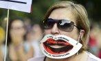 """""""Ley mordaza"""": Españoles marchan contra polémica ley en Madrid"""