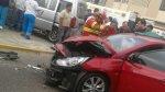 Breña: choque entre carro y van dejó cuatro heridos - Noticias de accidente de transito