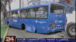 San Isidro: bus de corredor azul perdió llantas en plena marcha - Noticias de accidente tacna
