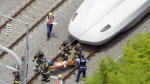 Japón: Desquiciado se prende fuego a bordo de tren bala [VIDEO] - Noticias de estación de bomberos