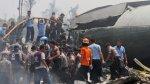 Mueren más de 70 personas al estrellarse un avión en Indonesia - Noticias de accidentes aéreos