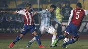Lionel Messi sufrió la dura marca de la selección de Paraguay