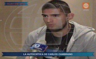"""Carlos Zambrano y su autocrítica: """"Me put.. a mí mismo"""""""