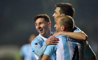 Messi no anotó, pero participó en los seis goles de Argentina