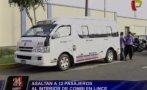 Lince: asaltan a pasajeros al interior de combi en Av. Arenales