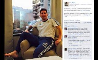 Lionel Messi espera así la final de la Copa América 2015