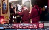 Murió taxista tras golpiza de pasajeros que se negaron a pagar