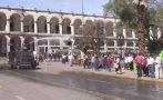 Opositores a Tía María protestaron en plaza pese a prohibición