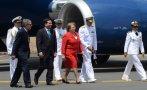 Bachelet sufre retraso en viaje a Perú por falla en avión