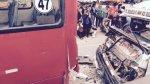 Surco: 17 heridos dejó el choque entre un bus y una combi - Noticias de accidente de transito