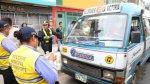 Apenas siete combis fueron retiradas en inicio de fiscalización - Noticias de ordenanza municipal
