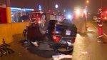 Policía ebrio provocó accidente que dejó al menos tres heridos - Noticias de accidente de transito