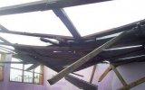 Lambayeque: fuertes vientos destruyeron viviendas y colegio