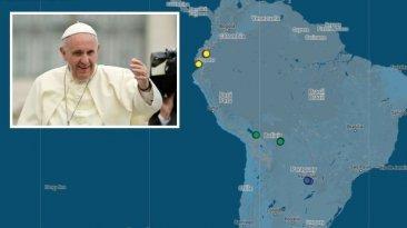 Francisco pone de cabeza a tres países de Sudamérica