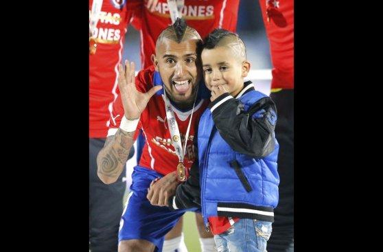 Chile campeón: festejo de la 'Roja' en el Nacional de Santiago