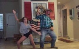 Padre e hija muestran sus increíbles pasos de baile [VIDEO]