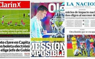 """Prensa argentina enfocó derrota en Messi: """"Mession imposible"""""""