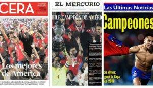 Chile: prensa le rinde homenaje tras título de la Copa América
