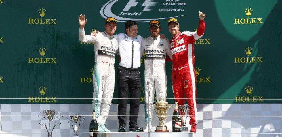 Fórmula 1: Hamilton ganó en Silverstone