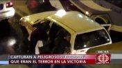 Capturan a dos 'bujieros' que asaltaban en La Victoria