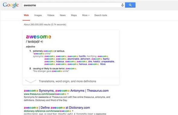 Un ejemplo de un resultado de búsqueda de Google para una mala palabra o frase negativa durante el uso de la aplicación Chrome (Captura: Google)