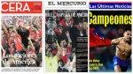 Chile: prensa le rinde homenaje tras título de la Copa América - Noticias de diario el mercurio de chile