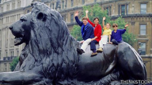 En el pasado, los leones vivían en la Torre de Londres, ahora sólo queda su recuerdo en Trafalgar Square.