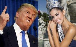 """Donald Trump llamó """"hipócrita"""" a Miss Universo Paulina Vega"""