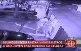 Mujer fue arrastrada por impedir robo de su celular [VIDEO]