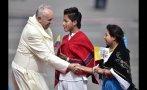 Las postales de la llegada del Papa Francisco a Ecuador