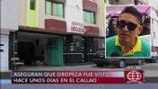Gerald Oropeza: allanan hotel del Callao buscando a prófugo