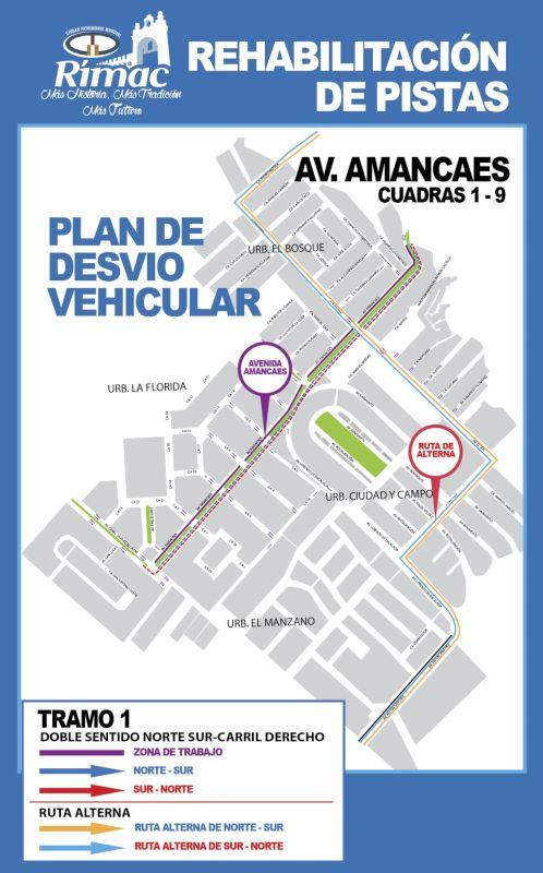 Los trabajos de rehabilitación comprenden 9 cuadras desde Prologación Amancaes hasta la avenida Alcázar.