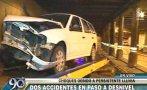 Vía Expresa Grau: dos accidentes debido a intensa llovizna