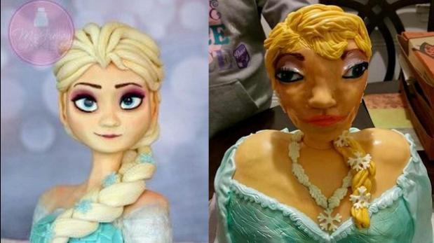 Pidió pastel de Elsa de Frozen para su hija y le dieron esto