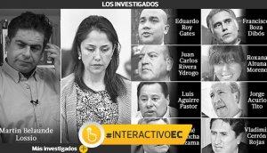Los principales investigados por Comisión Belaunde Lossio