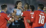 Edinson Cavani negó haber hablado mal de Chile y Jara
