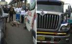 Murió atropellado por un tráiler en San Juan de Miraflores