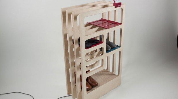Utiliza este mueble para guardar y secar tus zapatos for Muebles zapateros de diseno