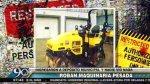 Cercado: roban maquinaria pesada de la Municipalidad de Lima - Noticias de ciprés