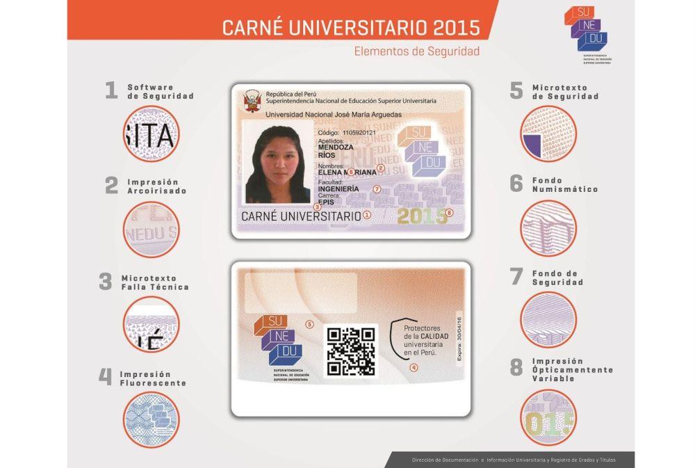 Conoce los detalles del nuevo Carné Universitario 2015. (Difusión)