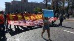Paro de la CGTP: marchas, bloqueos y enfrentamientos - Noticias de tumán