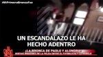 Alondra García Miró y Paolo: difunden nuevo video de la pelea - Noticias de fiesta nocturna