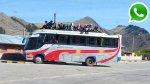 WhatsApp: buses en Puno llevan a más de 15 escolares en techo - Noticias de provincia de moho