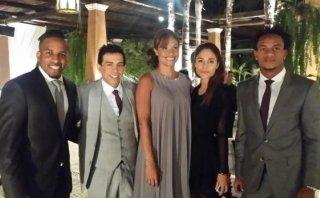 Jefferson Farfán y André Carrillo en boda de Yaco y Natalie