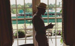 Wimbledon: Lewis Hamilton se perdió la final por vestir mal