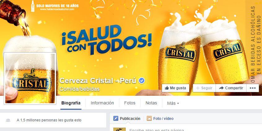 (Foto: Facebook de Cerveza Cristal Perú)