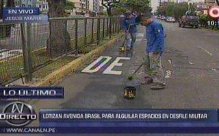 Av. Brasil lotizada: borran pintas hechas por comerciantes